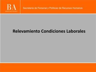 Relevamiento Condiciones Laborales