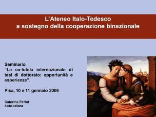 Caterina Perlot Sede italiana