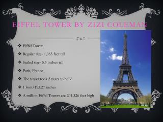 Eiffel Tower by Zizi Coleman