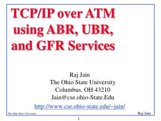 TCP/IP over ATM using ABR, UBR, and GFR Services