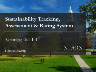 Sustainability Tracking, Assessment & Rating System