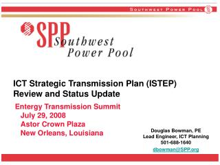 ICT Strategic Transmission Plan (ISTEP) Review and Status Update