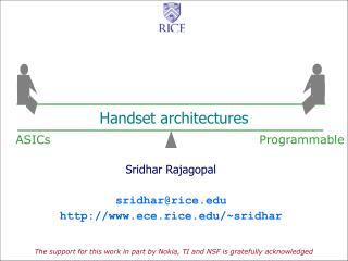 Handset architectures