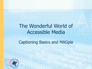 The Wonderful World of Accessible Media