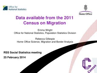 Data available from the 2011 Census on Migration