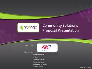 Community Solutions Proposal Presentation