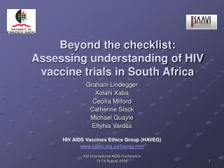 Beyond the checklist:  Assessing understanding of HIV vaccine trials in South Africa