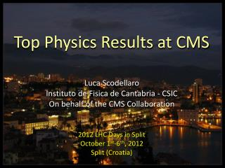 Top Physics Results at CMS