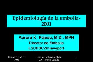 Epidemiología de la embolia-2001