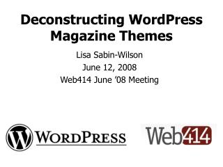 Deconstructing WordPress Magazine Themes
