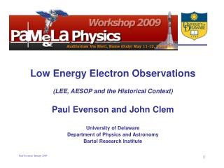 Low Energy Electron Observations (LEE, AESOP and the Historical Context)