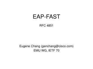EAP-FAST RFC 4851