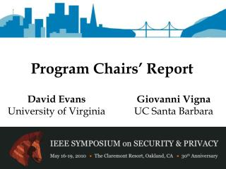 Program Chairs  Report