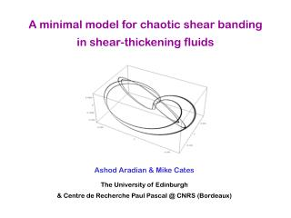 A minimal model for chaotic shear banding in shear-thickening fluids