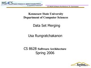 Kennesaw State University Department of Computer Sciences