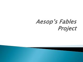 Aesop's Fables Project