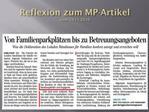 Reflexion zum MP-Artikel vom 29.11.2010