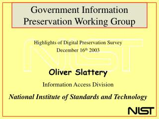 Government Information Preservation Working Group