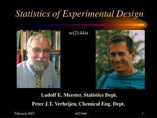 Statistics of Experimental Design