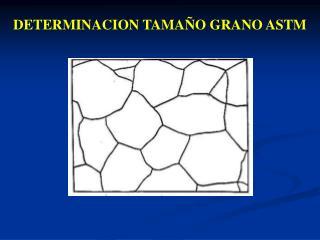 DETERMINACION TAMAÑO GRANO ASTM