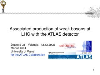Associated production of weak bosons at LHC with the ATLAS detector