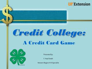 Credit College: A Credit Card Game