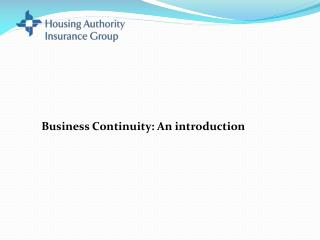 Business Continuity: An introduction