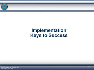 Implementation Keys to Success