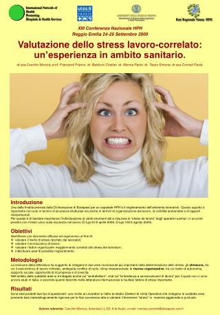 XIII Conferenza Nazionale HPH Reggio Emilia 24-26 Settembre 2009