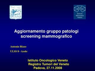 Istituto Oncologico Veneto   Registro Tumori del Veneto  Padova, 27.11.2008