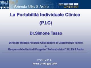 La Portabilità Individuale Clinica (P.I.C)