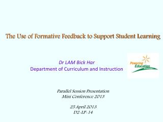 The Use of Formative Feedback to Support Student Learning