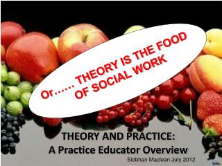 THEORY AND PRACTICE: A Practice Educator Overview