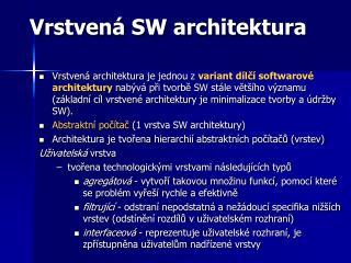 Vrstvená SW architektura