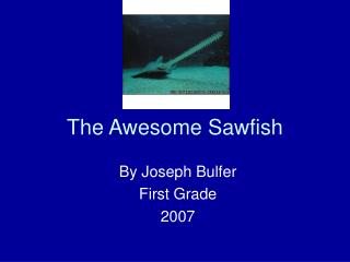 The Awesome Sawfish