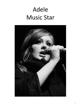 Adele Music Star