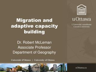 Migration and adaptive capacity building