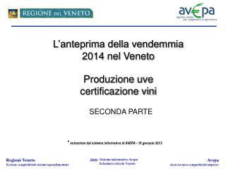 *  estrazione dal sistema informativo di AVEPA - 16 gennaio 2013