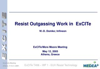 Resist Outgassing Work in  ExCITe  W.-D. Domke; Infineon