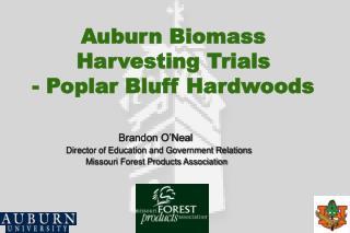 Auburn Biomass  Harvesting Trials  - Poplar Bluff Hardwoods