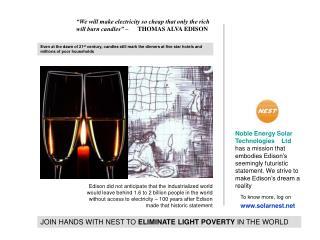 Noble Energy Solar Technologies    Ltd