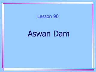 Lesson 90