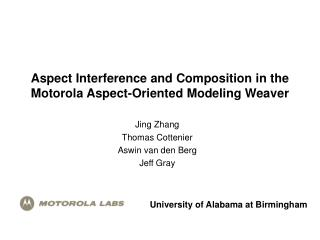 Aspect Interference and Composition in the  Motorola Aspect-Oriented Modeling Weaver