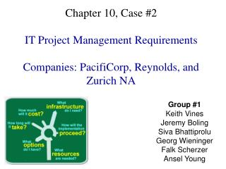 Chapter 10, Case 2  IT Project Management Requirements  Companies: PacifiCorp, Reynolds, and Zurich NA