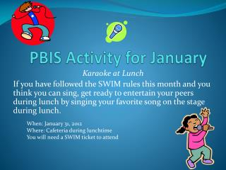 PBIS Activity for January