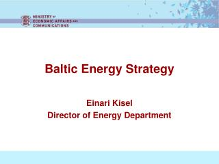Baltic Energy Strategy