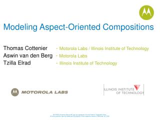 Modeling Aspect-Oriented Compositions