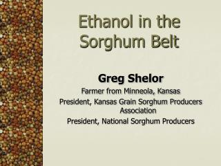 Ethanol in the Sorghum Belt