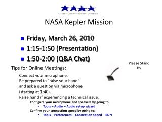 NASA  Kepler  Mission