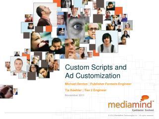 Custom Scripts and  Ad Customization